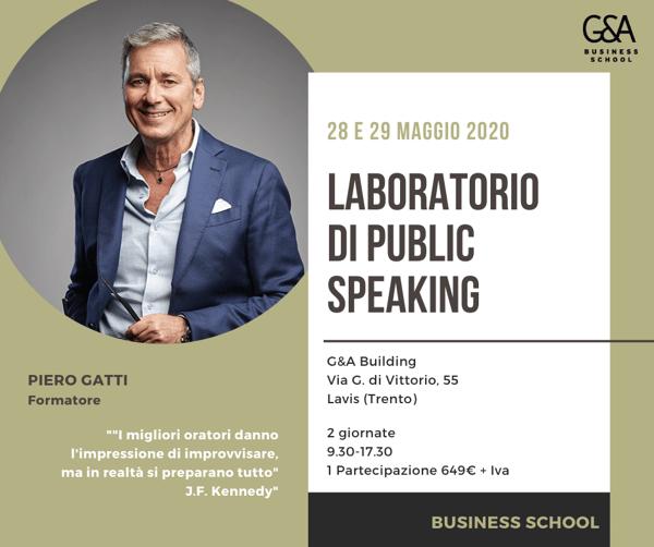 public speaking emozionale laboratorio ga business school formazione trento trentino alto adige